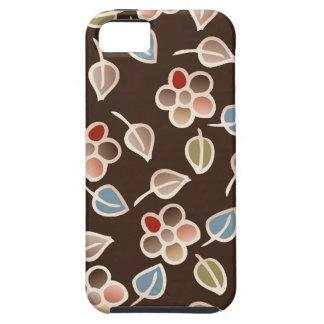 leaves & floral pattern iPhone SE/5/5s case