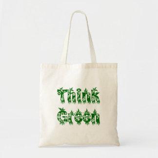 """Leaves & Flowers Growing """"Think Green"""" Bag"""