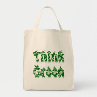 "Leaves & Flowers ""Think Green"" Bag"