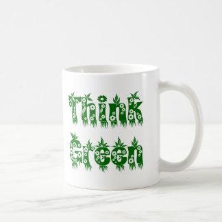 "Leaves & Flowers ""Think Green"" Mug"