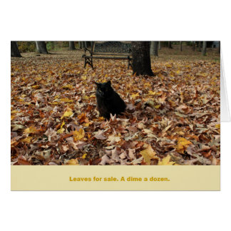 Leaves for Sale by Guiness the Cat Stationery Note Card