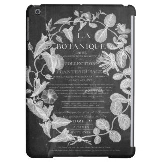 leaves french botanical art vintage chalkboard case for iPad air