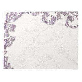 Leaves - French Lilac & Silver Notepad