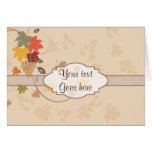 Leaves, Grapes and Ribbons - Customizable Greeting Cards