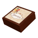 Leaves, Grapes and Ribbons - Customizable Trinket Box