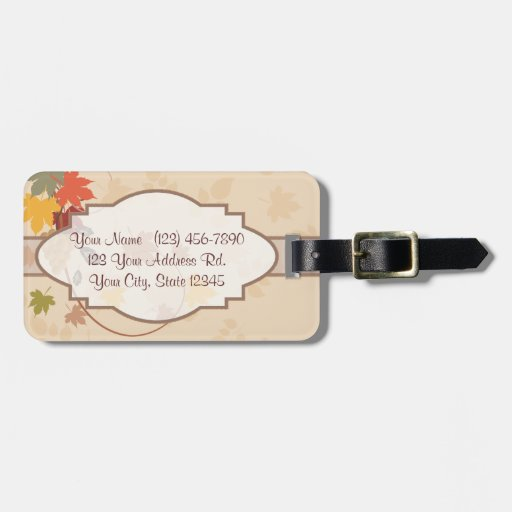 Leaves, Grapes and Ribbons - Customizable Tags For Bags