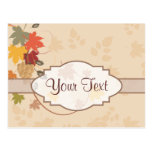 Leaves, Grapes and Ribbons - Customizable Postcards