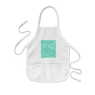leaves (green and white) kids' apron