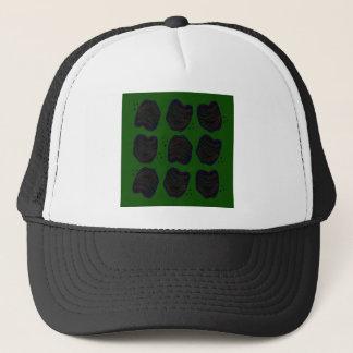Leaves green black trucker hat