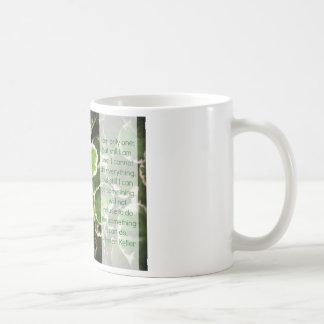 Leaves & Helen Keller Quote Coffee Mug