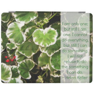 Leaves & Helen Keller Quote iPad Cover