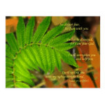leaves image with Isaiah 41:10 verse Postcards