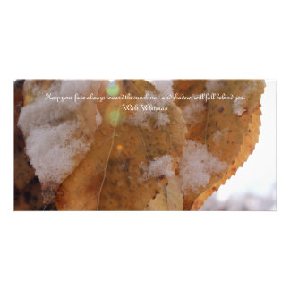 Leaves in Autumn Card