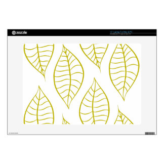 Leaves in Citron Decal For Laptop