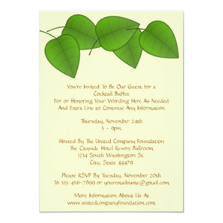 Leaves in Nature Generic for Any Occasion Party 5x7 Paper Invitation Card