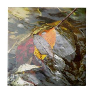 Leaves in Water Ceramic Tile
