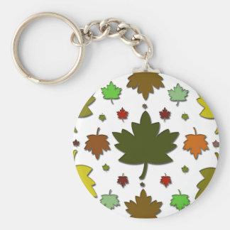 Leaves Keychain