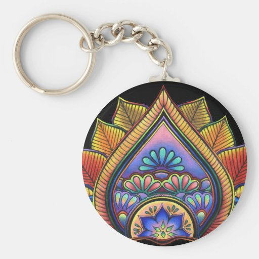 Leaves Keychain