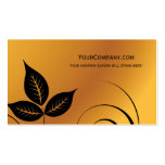 leaves nature business cards