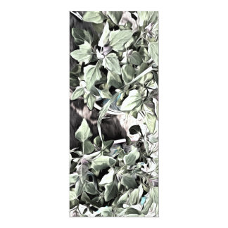 Leaves of 2 plants 4x9.25 paper invitation card