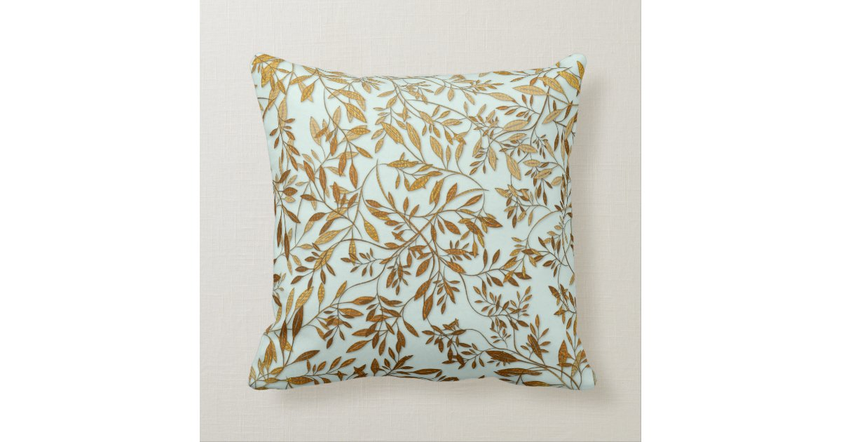 50th Wedding Anniversary Gift Pillows: Leaves Of Gold 50th Wedding Anniversary Throw Pillow