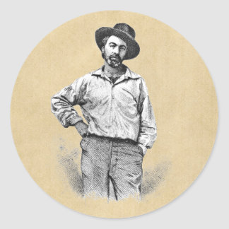 Leaves of Grass Classic Round Sticker
