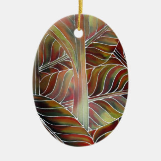Leaves of Green (and red, yellow and orange....) Ceramic Ornament