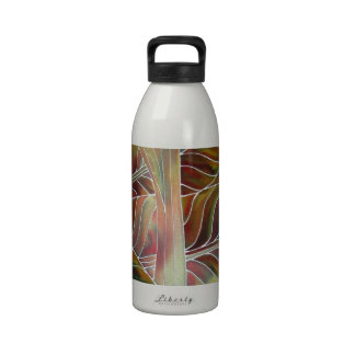 Leaves of Green and red yellow and orange Water Bottle