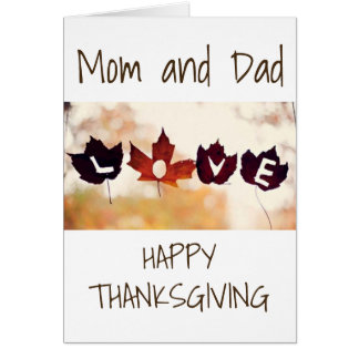 LEAVES OF LOVE AT THANKSGIVING TO MY ***PARENTS*** CARD