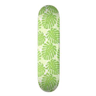 Leaves Of Tropical Plant - Monstera Pattern Skateboard Deck