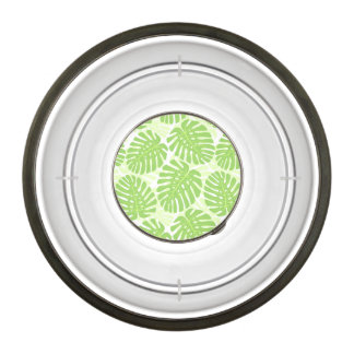 Leaves Of Tropical Plant - Monstera Pattern Pet Bowl
