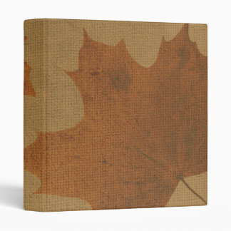 Leaves on canvas 3 ring binder