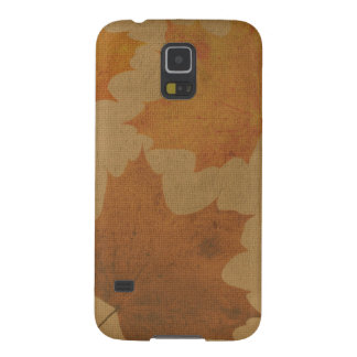 Leaves on canvas galaxy s5 cases