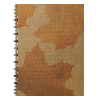 Leaves on canvas notebook