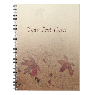 Leaves on Silk Custom Notebook