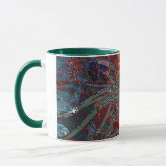 LEAVES ON TORTOISESHELL MUG