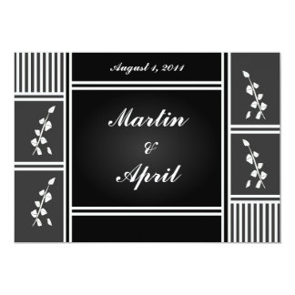 Leaves & Panels Engagemnt Annoucemnt/Save the Date 5x7 Paper Invitation Card