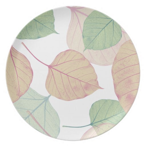 leaves party plates