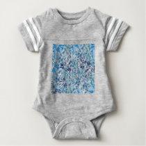 leaves pattern  A Baby Bodysuit