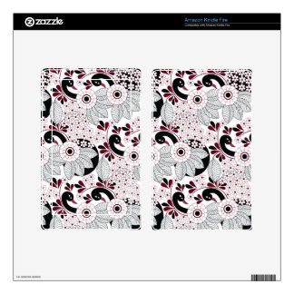 leaves pattern C Skin For Kindle Fire