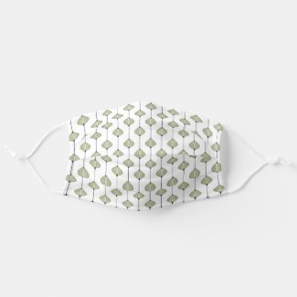 Leaves pattern cloth face mask