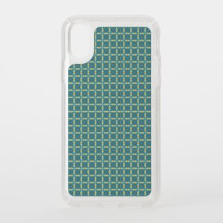 Leaves Pattern in blue Speck iPhone X Case