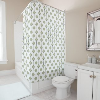 Leaves pattern shower curtain
