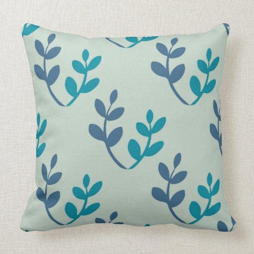 Throw Pillows 20 X 20 : Leaves Pattern Throw Pillow 20
