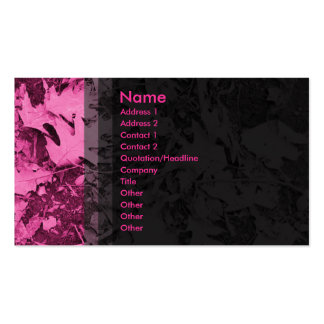 Leaves - Pink Double-Sided Standard Business Cards (Pack Of 100)