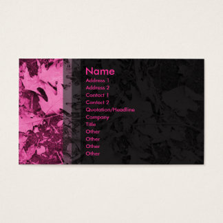 Leaves - Pink Business Card