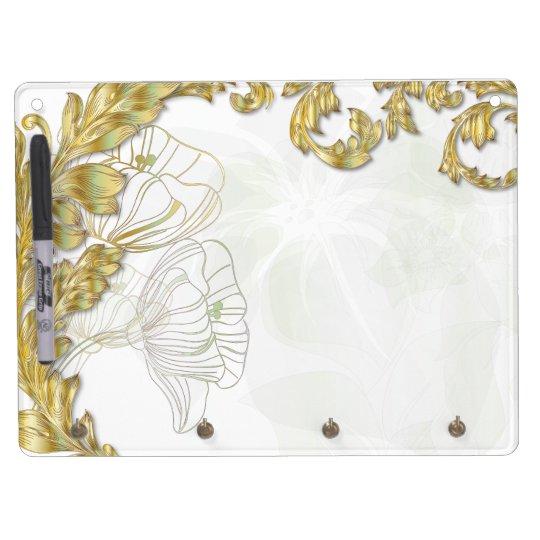 Leaves & Poppies - Gold & Sage Eraser Board