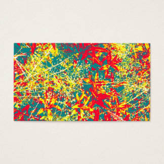Leaves red green yellow and white business card