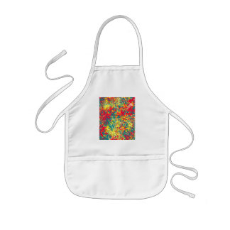leaves red green yellow and white kids' apron