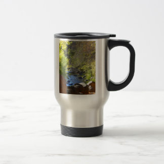 Leaves & Red Rocks & A Stream Travel Mug